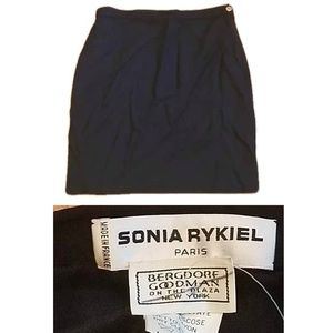 Sonia Rykiel Paris Basic Black mini Skirt 42